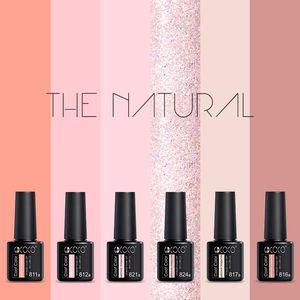 6pcs*8ml GDCOCO Color Gel Nail Polish Kit Natural Fashion Plastic Bottle Manicure Varnish Soak Off UV LED Lacquer