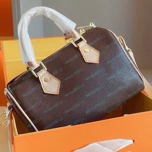 محفظة حقيبة يد جلد طبيعي الرقم التسلسلي حقائب النساء حقائب الكتف حمل حقيبة حمل 25 سنتيمتر مع مفتاح قفل مربع