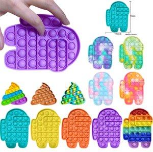2021 Push Fidget Fidget Brinquedos Bubble Sensory Silicone Toy Gadgets Stress Relief e Anti-Antiedy Tools Bata o autismo para necessidades especiais para aliviar a pressão