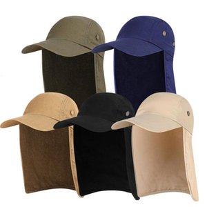 Unisex Sunhat Uv Protection Throat Flap Face Man Zon Cap Work Random Hat Summer