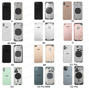 Back Middle Frame Chassis Full Battery Housing Assembly for Iphone 7 8 X XR XS MAX 11 PRO High Quality Cover with SIM