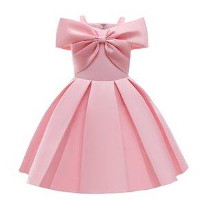 Дети девушки принцесса рождественское платье лук элегантный свадебный день рождения вечернее 2021 детские платья