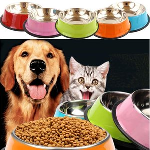 dog bowls Stainless Steel Puppy Dog Feeder Feeding Food Water Dish Bowl Pet Dogs Cat New dog bowl stainless steel