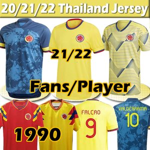 Colombia national team Soccer Jersey Colombie maillot de foot 2020 2021 Copa America James L.Muriel Falcao Cuadrado Hommes Femmes Kits Kits Football Chemise Thaï Pantalons 4XL