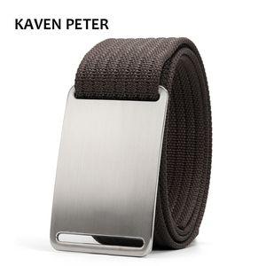 "Canvas Military Tactical for Mens Designer Men Cinto Masculino Luxo 1.5"" Nylon Webbing Waist Belt"