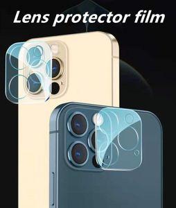 Protectores de pantalla de teléfono celular 9H Espejo de dureza para IP12PRO MAX 12MINI 11PRO 11pro anti-rasguño de cristal templado de vidrio protector de cámaras Caja 3d transparente