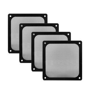 Fans Refrigeraciones 8 cm 12 cm 14 cm marco magnético Filtro de polvo de malla negro PC Fan del enfriador con imán 120x120mm Cubierta de la caja de la computadora a prueba de polvo