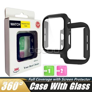 Tempered Glass Screen Protector Cases Full Coverage Hard PC Frame Cover Ultra-Thin Protective Case Scratch-Resistant Bumper Guard For Apple watch 6 SE 5 4 3 2