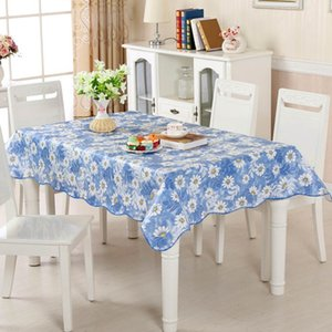 Meijuner Pvc Plastic Disposable Tablecloth, Waterproof and Oil Resistant, Home Party Restaurant Decoration