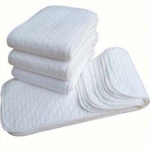 10шт многоразовые детские подгузники ткань подгузники вставки 1 шт. 3 слой вставка 100% хлопок моющиеся младенцы уход экологически чистый подгузник 1826 z2