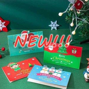 Greeting Cards Merry Christmas Gift Card Xmas Blessing Envelope Santa Claus Year Postcards CS13