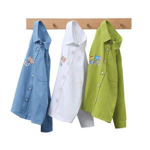 3-13T Big Child Long Sleeve Shirt Linen Kid Clothing Teenager Clothes Boys 10 Years Collar Shirts For