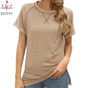 Women's T-Shirt Summer Fashion Tees 2021 Loose Plus Size O-Neck Students Patchwork Short Sleeved T Shirt Clothes Female Tops Lady