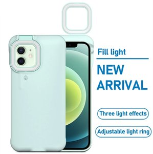 Fill Cell Phone Cases Ring Light Phone Cover Case for iPhone 12 Pro Max 11 Pro Max 7 8 Plus X XR Xs Fill Light Selfie Beauty Ring Flash