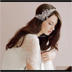 Us Warehouse Trendy Alloy Flower Bridal Prom Tiara Wedding Accessories Handmade Vine Crystal Bride T6Pk7 Headbands Yhrue
