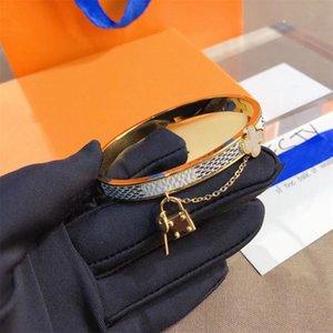 Designer Jewelry Bracelets Bangle Rose Gold Silver Stainless Steel Luxury Simple Cross Pattern Buckle Love Jewelrys Women Mens Brand Cart