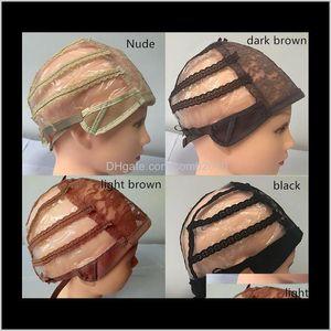 مزدوج لاصق الدانتيل لمة قبعات لصنع الباروكات والنسيج الشعر تمتد قابل للتعديل لمة كاب 4 ألوان قبة كاب لمة 10 قطع tgryn 5hcjw