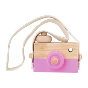 Cute Nordic Hanging Wooden Camera Toys Kids Toy Gift 9.5*6*3cm Room Decor Furnishing Articles Wooden Toys For Kid