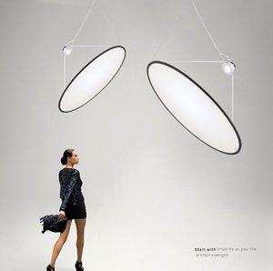 Nordic Design Minimalist Simple Round Led Hanging Lamp Modern Light Fixture Art Decor Stair Hall Living Dining Room Bedroom Bar