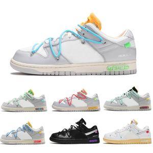 2021 от подлинного Dunk SB Лот 33 из 50 Коллекция Беговые Обувь Черный Белый Университет Синий Сосна Зеленые Низкие Мужчины Женщины Кроссовки с коробкой