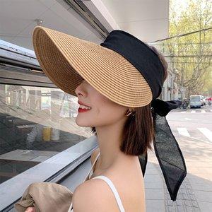 Негабаритные соломенные ведры шляпа женщин лук женские летние козырек шапка 2021 мода рыбалка шляпа BOB мужские панама шляпы костяное Feminino MZ015