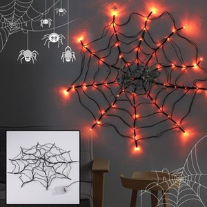 Strings Halloween Props Led Lamp SpiderWeb Outdoor Light Up Lighting Decor Holiday Bar Party DIY Hanging Horror Lights