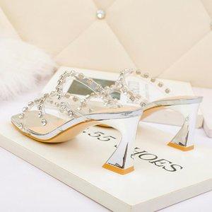 Сексуальные обнаженные черные Trandparent четкие каблуки роскошные женские дизайнерские туфли сандалии на платформе высокие каблуки 7 см размер 34 до 39 поставляется с коробкой