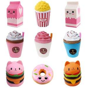 SQUISHY DÉCOMPRESSION Toy Antistress Histress Hamburger Milkshake Squishe Donut Popcorn Toys Soulagement Soulagement Anti Pratique Blagues surprise