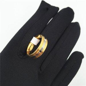 Punk rock estilo de ouro anel de prata mens moda chunky dedo bling hip hop anel tamanho 7/11/11/11 titanium retro anéis de aço 637 Q2