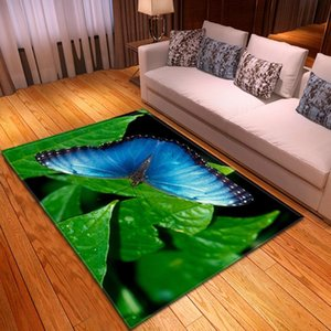 Carpets 3D Cartoon Dream Butterfly Printing For Living Room Bedroom Large Area Rug Kid Child Carpet Game Play Big Floor Mat