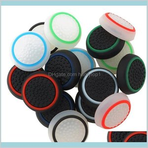 Silicone Analog Controller Thumb Stick Grips Cap Cover For Sony Play Station 4 Ps4 Thumbsticks Game Accessories Kit Set Wfkkh Boy50