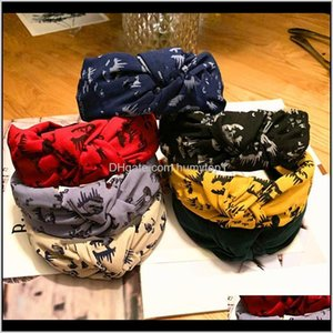 Highgrade Cloth Art Letters Knotted Wide Edge Printing Fashion Simple Headband Female Ornaments 7 Colors Xa8V8 China Style Souvenir Tf96Z
