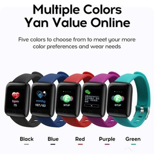Smart Watches 116 Plus Heart Rate Watch Wristband Sports Band Waterproof Smartwatch Android With retail packaging