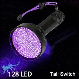 Flashlights Torches 10w Super Bright UV Light 395nm 100LED 51LED 128 LED Powerful Ultraviolet Lantern For Pet Urine Detect Blackl