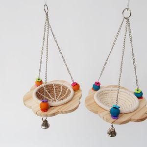 Птица дерева качели игрушки Paraket Perches Виситная клетчатка игрушка для загадочных попугаев Какондиэльс держатель стойки игрушка FWF7735