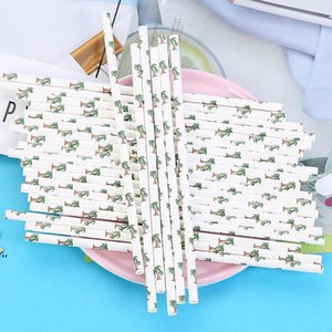 Disposable Paper Straws Creative Eco-friendly Colorful Drink Juice Party Bar Straws DIY Handmade Cake Decor LLF9050