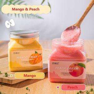 Peach Fragrance Bath Salt Back Foot Hand Feet Baths Salts Exfoliating Body Scrub