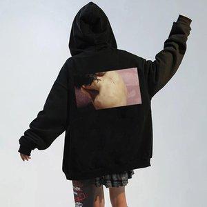 Men's Hoodies & Sweatshirts Sweat À CaSweat Capuche Noir Grunge Pour Hommes, Automne, Hauts De Rue, Manteau Goth, Hip Hop, Harajuku, Vêtemen