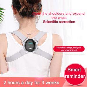 Getinfit Adjustable Smart Backs Posture Corrector Belts Back Brace Support Shoulder Training Belt Correction Health Care Automatic