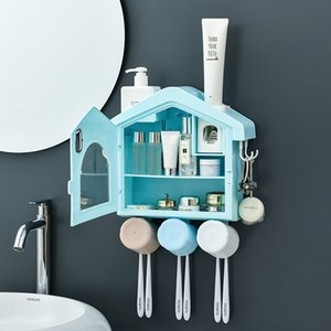 Dust-proof Toothbrush Holder Waterproof Cosmetics Storage Bathroom Accessories Automatic Home Toothpaste Dispenser
