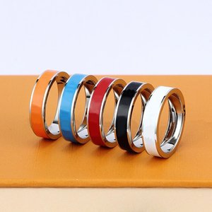New high quality designer titanium steel band rings fashion jewelry men's simple modern ring ladies gift