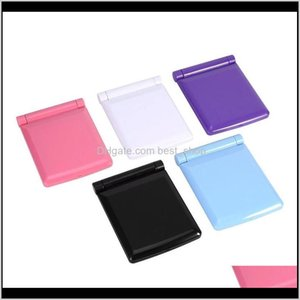 Cosmetic Hand Makeup Compact Led Fold Portable Fashion Mirror Cosmetology Plastic Lamp Women Student Solid Color 7 5Md M2 Xbtp0 Jemsa
