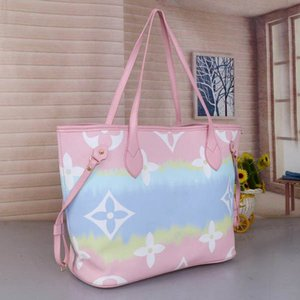 Classic M41180 Women 2pcs set Totes Handbags Clutch bags purse Leather Shoulder Bags Hobo bag Boston Sac à main France lady bag