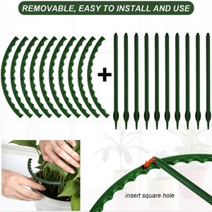 Other Garden Supplies 1 PCS Plant Support Cage Flower Stand Holder Plastic Semi-Circle Bonsai Tool