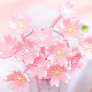 Gel Pens (2 Pieces lot) Beautiful Cherry Pen Cute Flower Student Exam Writing