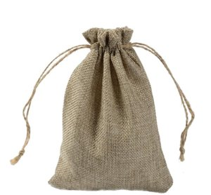 Pouches, Packaging & Display Jewelry7X9Cm 9X12Cm 10X15Cm 13X18Cm Original Color Mini Jute Bag Linen Hemp Jewelry Gift Pouch Dstring Bags For