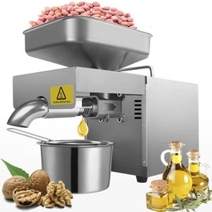110V 220V Automatic Household Flaxseed Oil Press Sesame Peanut Stainless Steel Temperature Control 610W Pressers