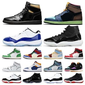 Top 11 11s Reverse Dark Grey Concord Flu Game Royal Men Basketball Shoes Mens Trainers Sports Sneaker Size 40-47