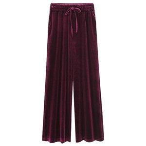 Pantalon Femmes Automne Hiver Pantalon Élastique Velastic Velastic Pantalon Élastique Casual Large Grande Taille Noir Lâche M-6XL Femmes Capris