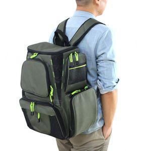 سعة كبيرة صيد السمك حقيبة حقيبة الظهر متعددة الوظائف 45 * 41 * 26 سنتيمتر الرياضة الرياضة المشي لمسافات طويلة للماء حقيبة الصيد X483